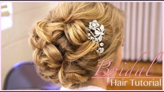 آرایش موی عروس (فر شده در پشت)