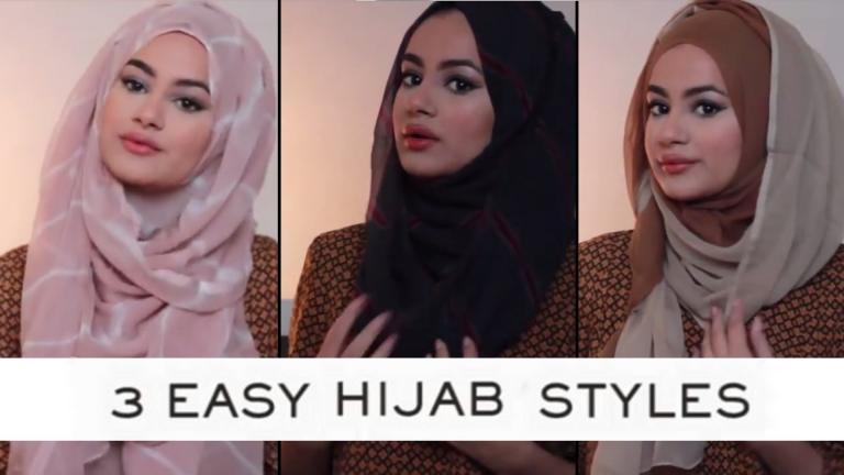 سه مدل پوشش ساده با شال عربی (عنایه)
