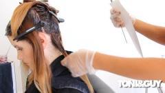 رنگ کردن موهای بلند