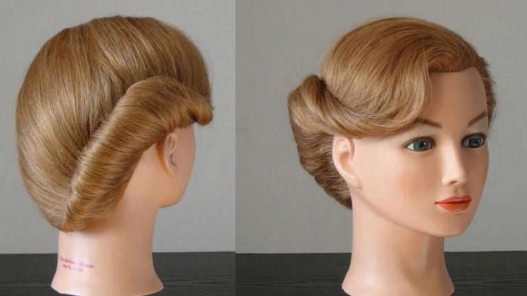 شینیون حلزونی برای موی کوتاه