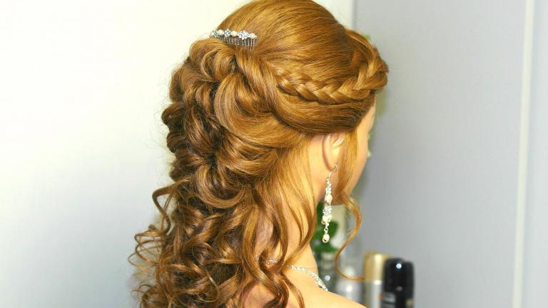 موی بلند فردار عروس بهمراه بافت فرانسوی
